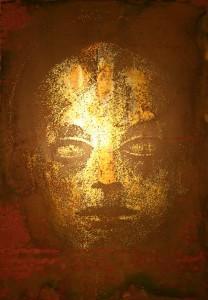 Acid engraved brass plate - 20x30cm